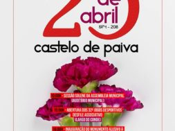 Cartaz do 25 de Abril Castelo de Paiva