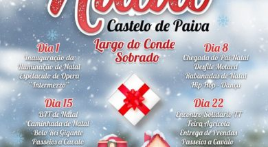 Cartaz do Natal Castelo de Paiva